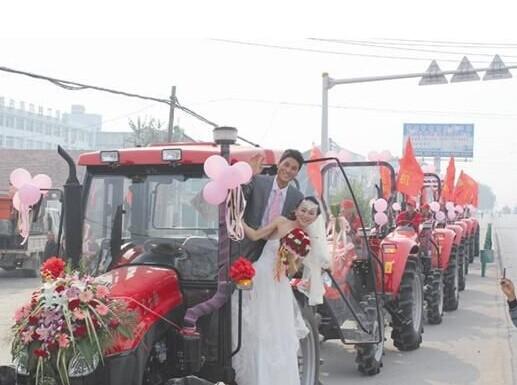 婚车 拖拉机婚车