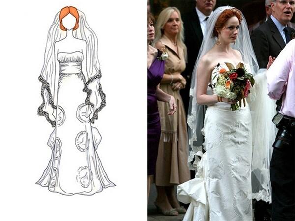 浓浓文艺气息的明星款婚纱 手绘婚纱之美 婚礼猫