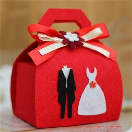 布艺系列婚礼喜糖盒 为你打造完美婚礼