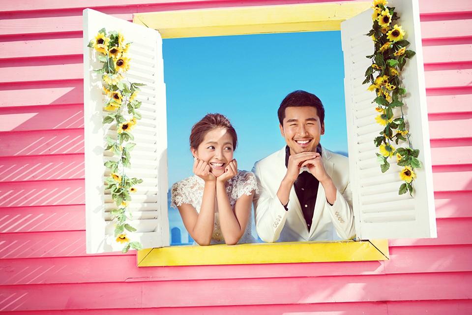 搞怪婚纱照图片欣赏,对于要拍婚纱照的新人是应该做的