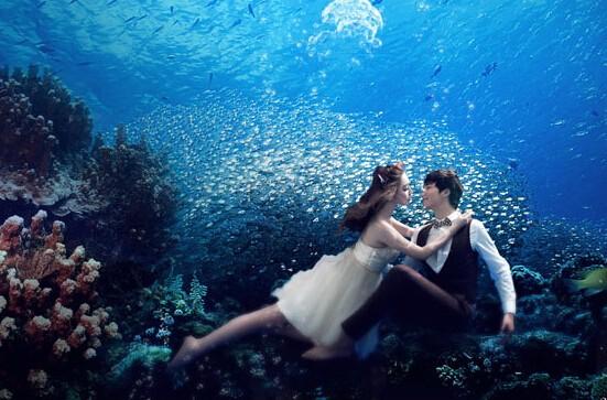 想尝试水下婚纱摄影吗,这些事项你一定要注意哦