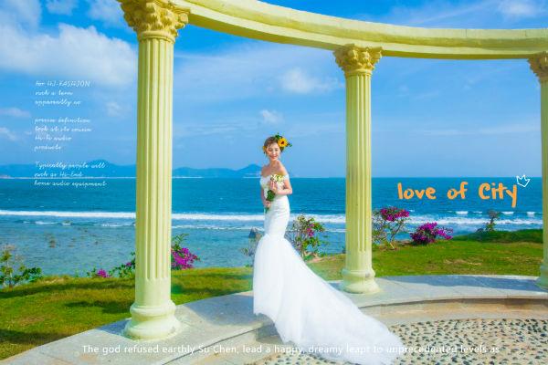 三亚婚纱摄影新人最美微笑是如何练成的?