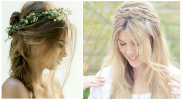 凌乱婚礼发型图片