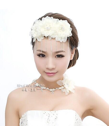 新娘头饰集锦  搭配唯美婚纱