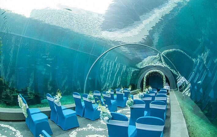 时尚又独特的海底婚礼 让你感觉浪漫无比的婚礼