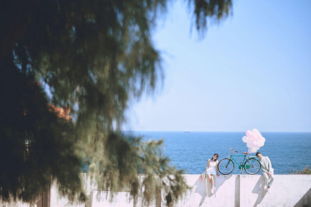 打造新娘浪漫璀璨的梦,衬上完美的碧海蓝天
