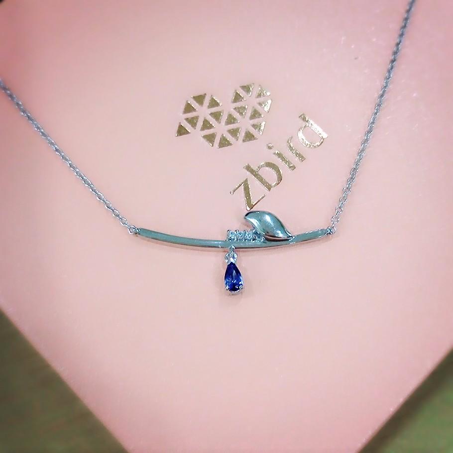 有一种秀恩爱叫做:拍拍拍 就能赢钻石小鸟蓝宝石精美吊坠项链!