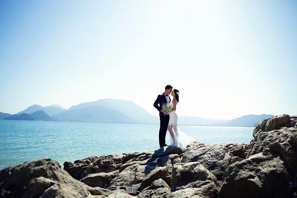 哈尔滨婚纱照,雪景在其他的地方绝无仅有