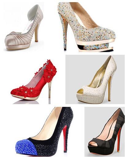 足够美丽的新娘梦幻婚鞋
