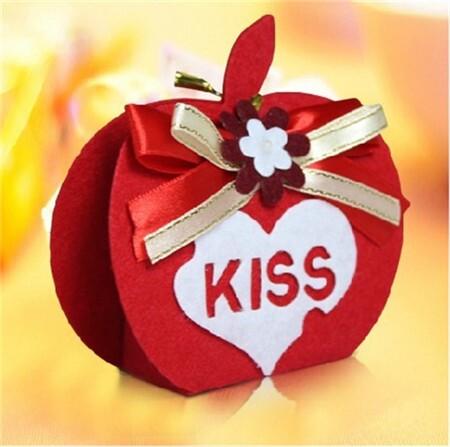 布艺系列婚礼喜糖盒 为你打造完美婚礼 婚礼猫