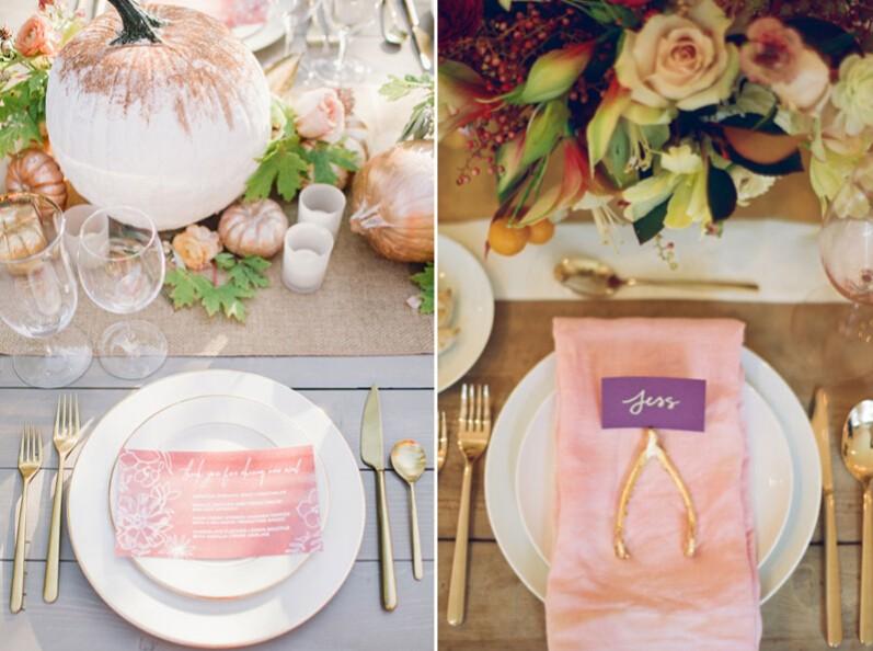 12种令人心情愉悦的秋季婚礼餐桌布置