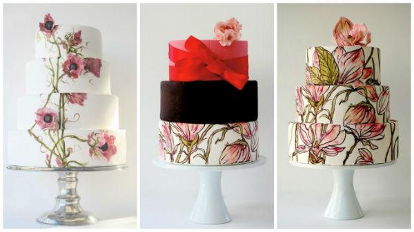 这些水彩婚礼蛋糕,你的婚宴预订都有了吗?