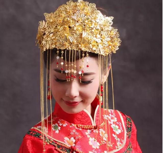 秀禾服新娘造型,演绎传统中式复古美!